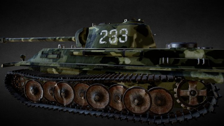 World War 2 Panther Tank 3D Model