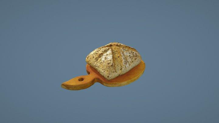 Loaf of Bran Bread 3D Model