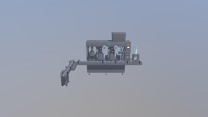 Step-By-Step liquid filling machine 3D Model