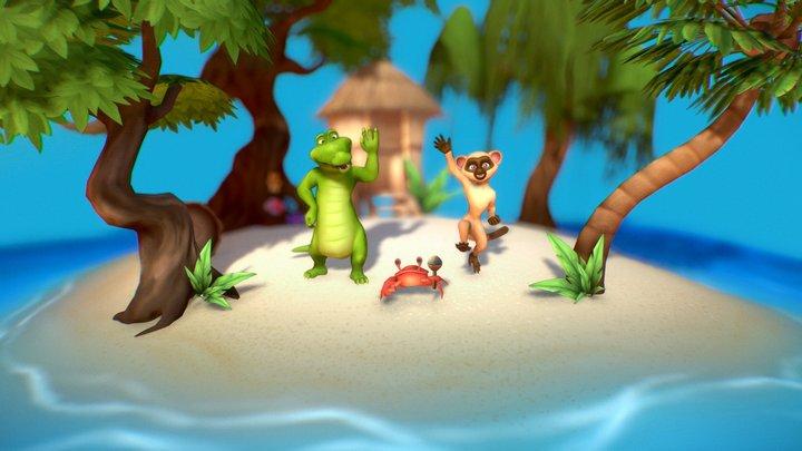 Island Friends 3D Model