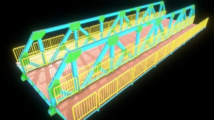 14 - PONTES METÁLICAS E MISTAS 3D Model