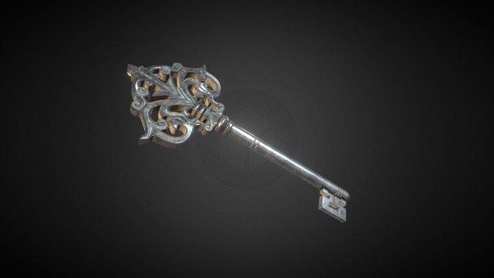Old Key 3D Model