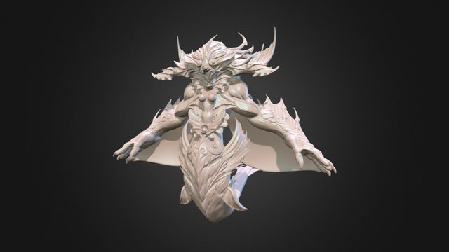 The Creature Wip Decimated 3D Model