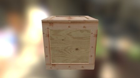 Wooden Crate Example 3D Model