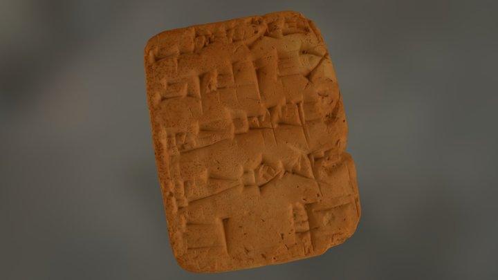 Cuneiform Tablet 23-1-7195 3D Model