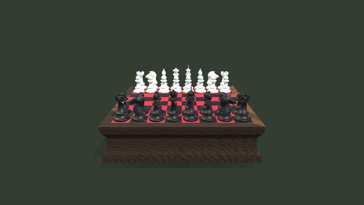 3D Sketchbook 10-Full Chess Set 3D Model