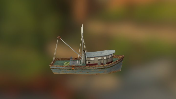 Fishing Boat (LOD0) 3D Model