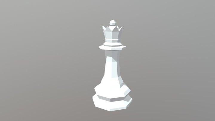 Low Poly Queen 3D Model