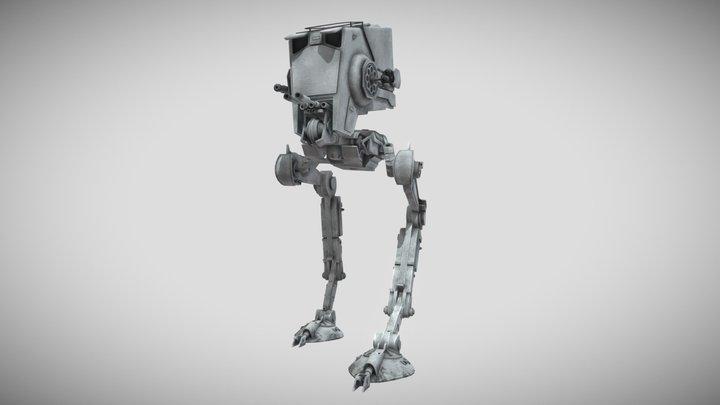 Imperial AT-ST Walker - Star Wars 3D Model