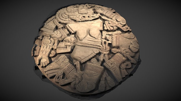 Coyolxauhqui Stone at Templo Mayor 3D Model