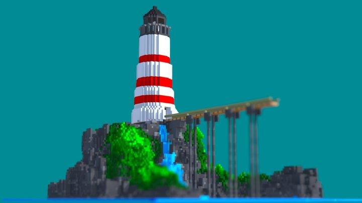 Voxel Lighthouse 3D Model