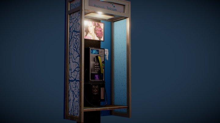 Public Phone Booth 3D Model