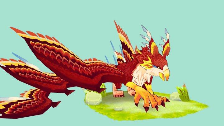 Final Fantasy 15 - Griffon 3D Model