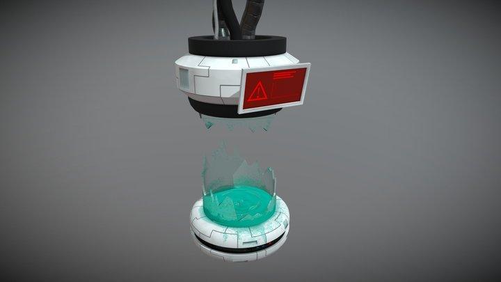 Broken Pod [Game Ready] 3D Model