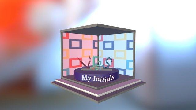 Weekly 36 - My initials 3D Model