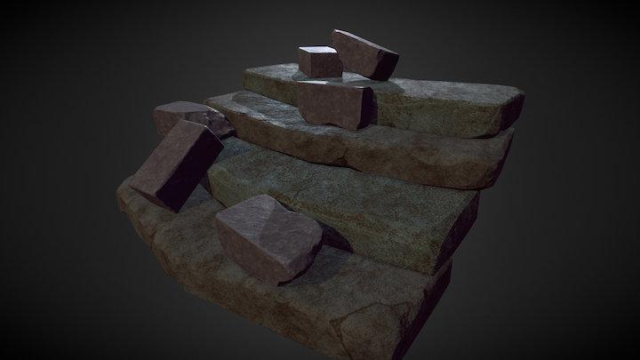 Stone Bricks & Steps Assets 3D Model