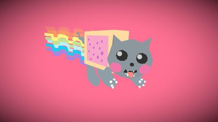 Nyan Cat Ready to Bite 3D Model