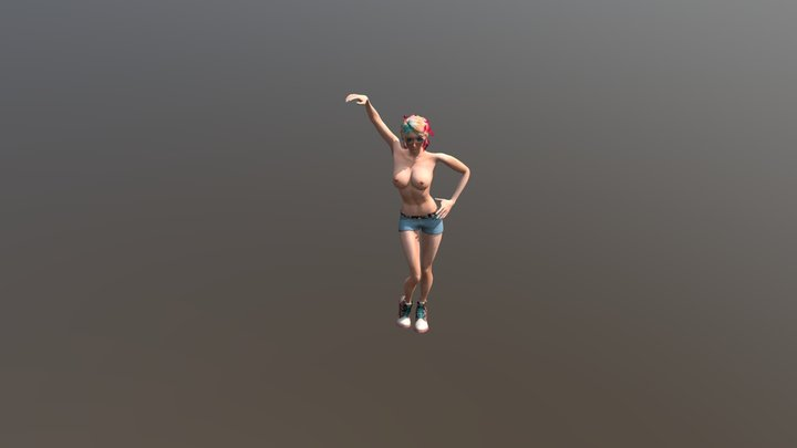 Izzy Standing pose 3D Model
