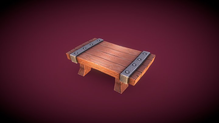 Table - Household Props Challenge 3D Model