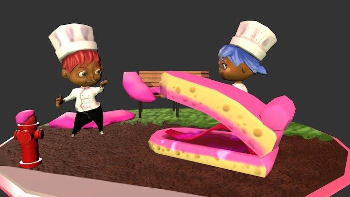A Not-So-Sweet Encounter 3D Model