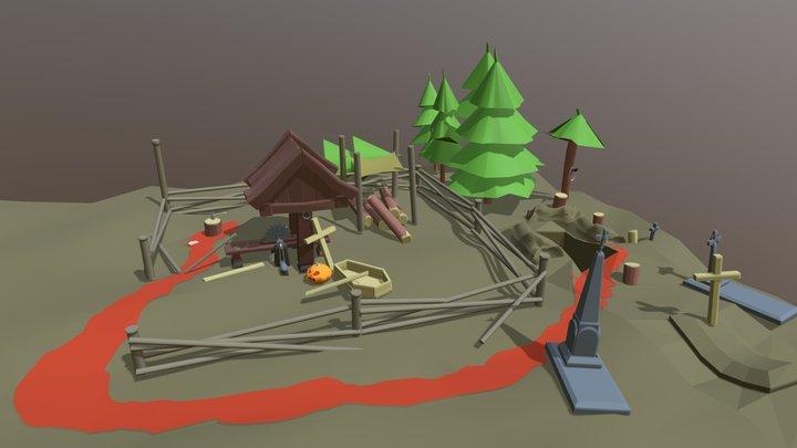 Sawmill Hallowen 3D Model