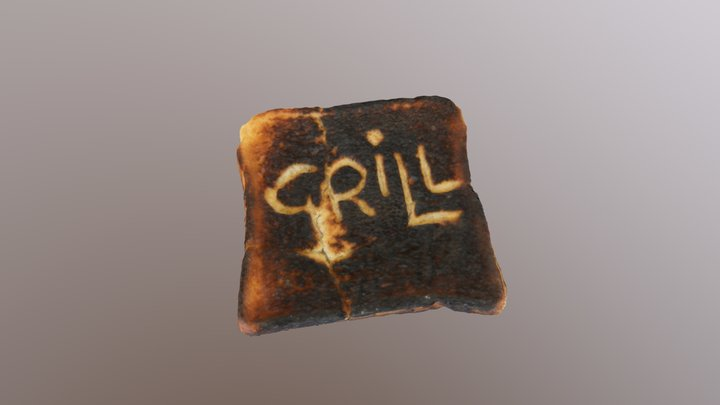 A piece of toast from 1994 3D Model
