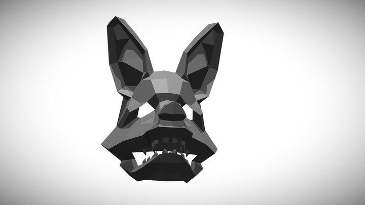 Lowpoly Maned Wolf 3D Model