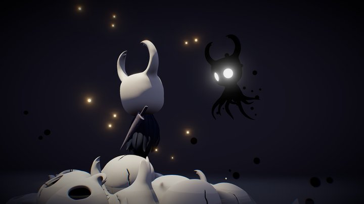 A Knight & its Shade - Hollow Knight 3D Model