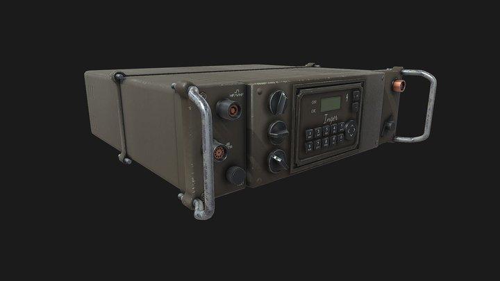 WW2 Military Radio 3D Model