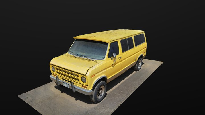 Yellow Van Ad 3D Model