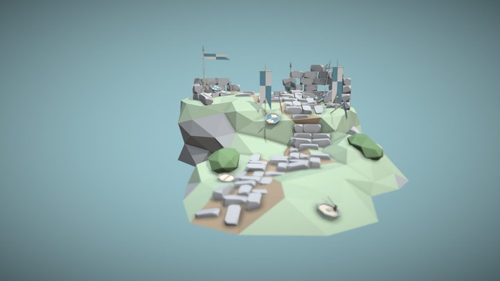 The Old Blue Fort 3D Model