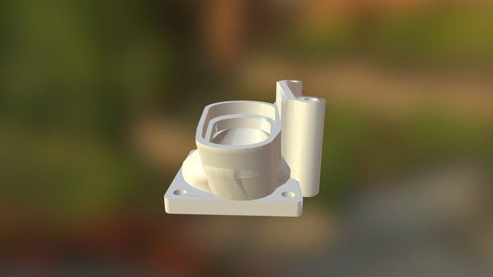 Supercharger Inlet 2 1 3D Model