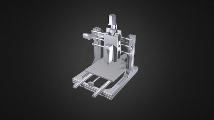 small CNC milling and engraving machine 3D Model