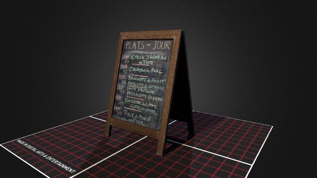 Prop_Resto_Menu 3D Model