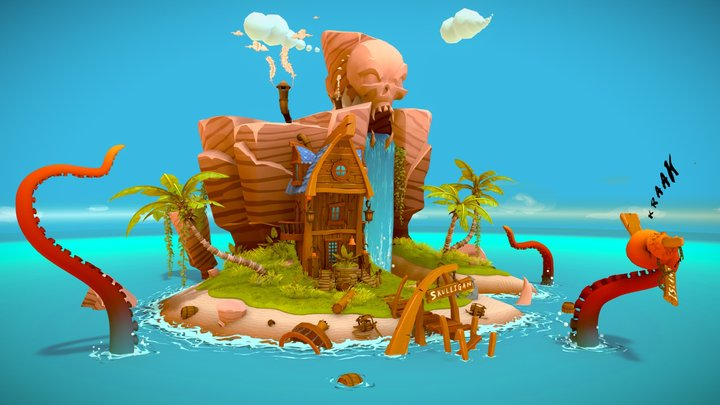 Skulligan Island 3D Model