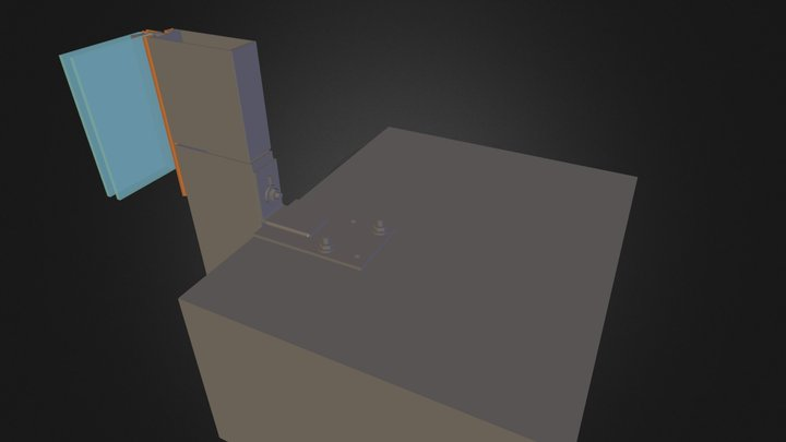 cerramiento muro cortina 01.dae 3D Model