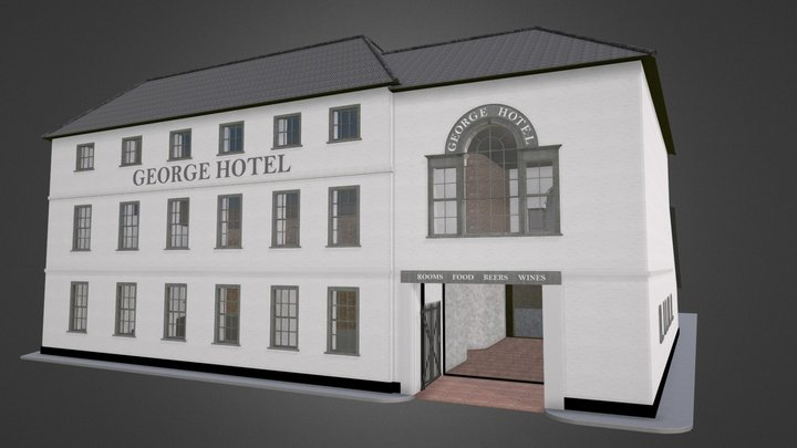 The George Hotel, Axminster 3D Model