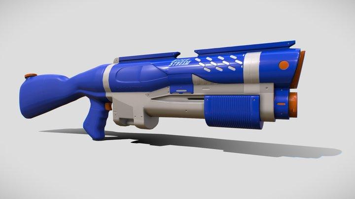 [Commission] Hyper Stream water gun 3D Model