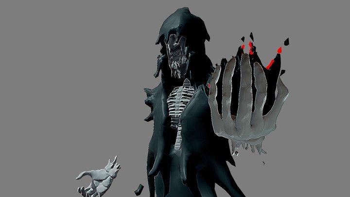 Wraith Inktober day22 Ghost 3D Model