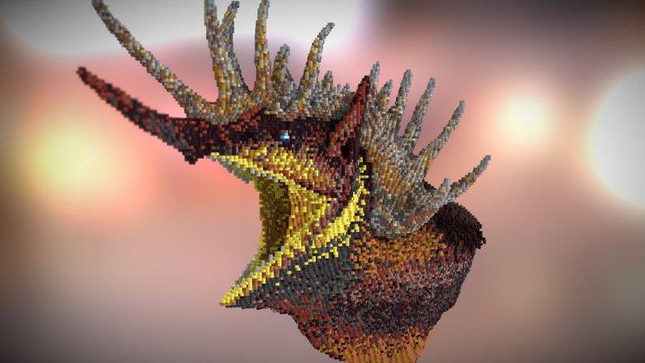 Dragonhead - Minecraft Sculpture 3D Model