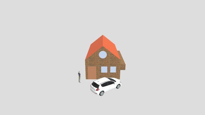 Einfaches Haus 3D Export 3D Model