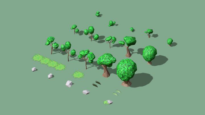 Summer Treesets 3D Model