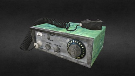 CB Radio 3D Model