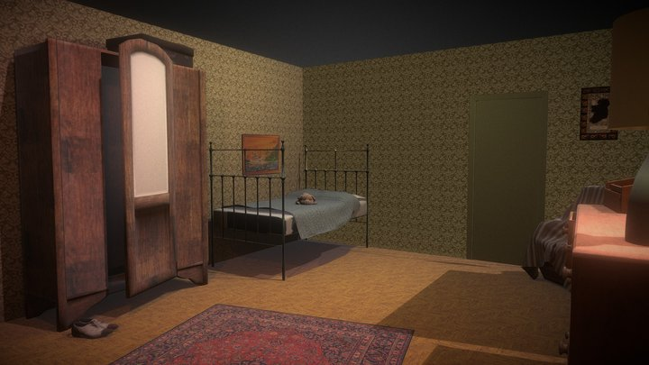 Low poly - Bedroom - Room To Breathe 3D Model