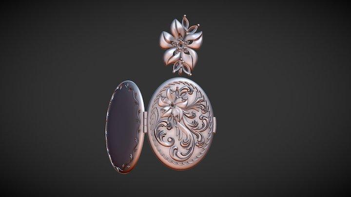 Opening pendant for photo 3D Model