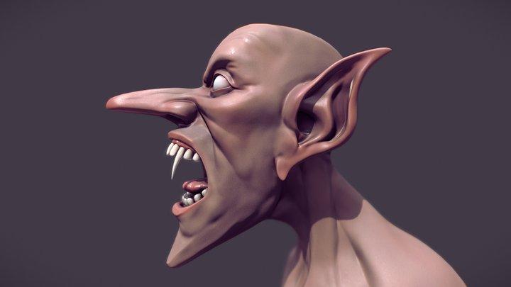 Pulp Vampire Bust 3D Model