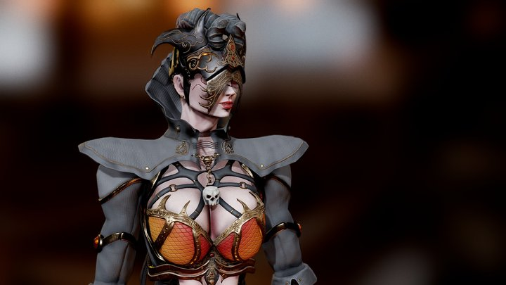Dark Mage 3D Model