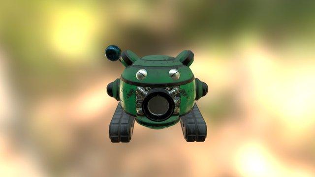 green robot mini 3D Model