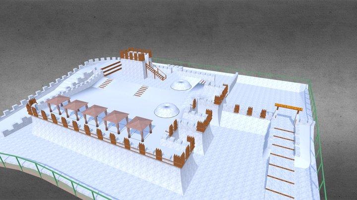 Zamek Śnieżny. Białka Tatrzańska. Polska. 3D Model