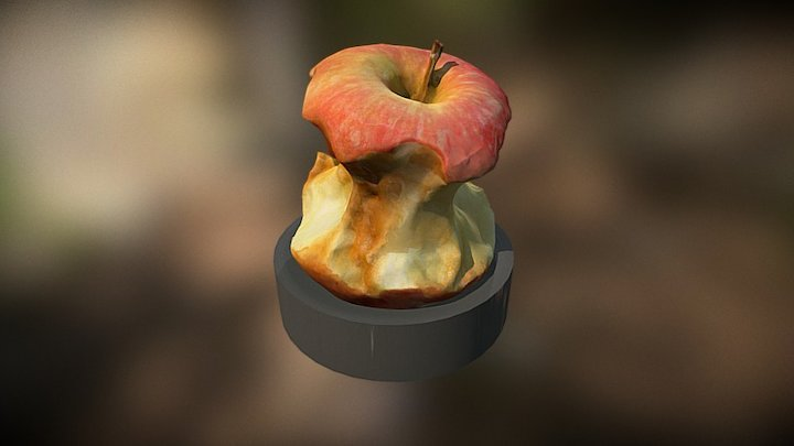 Apple 3D Scan Stop Motion Animation 3D Model